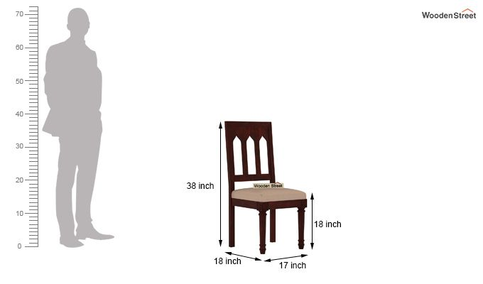 Archivist 6 Seater Dining Set (Mahogany Finish)-8