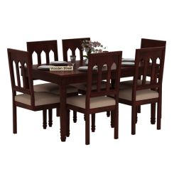 Archivist 6 Seater Dining Set (Mahogany Finish)