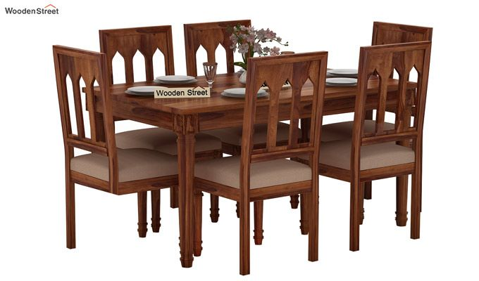 Archivist 6 Seater Dining Set (Teak Finish)-1