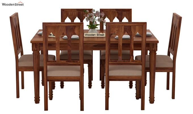 Archivist 6 Seater Dining Set (Teak Finish)-2