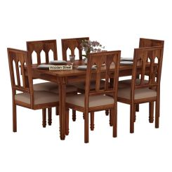 Archivist 6 Seater Dining Set (Teak Finish)