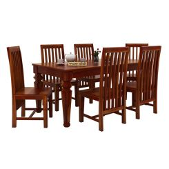 Ariana 6 Seater Dining Set (Honey Finish)