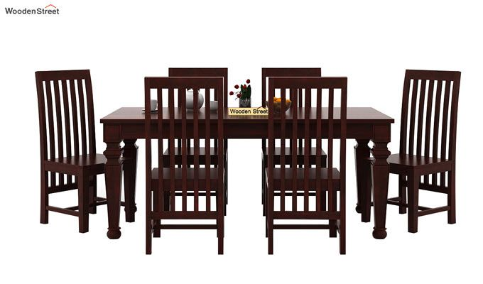 Ariana 6 Seater Dining Set (Mahogany Finish)-2