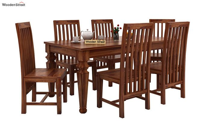 Ariana 6 Seater Dining Set (Teak Finish)-1