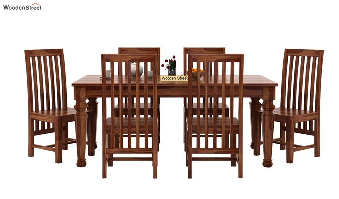 Ariana 6 Seater Dining Set (Teak Finish)-2