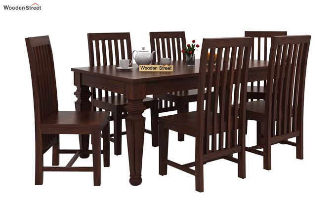 Ariana 6 Seater Dining Set (Walnut Finish)-2