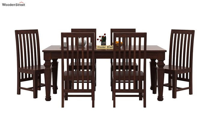 Ariana 6 Seater Dining Set (Walnut Finish)-3