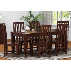 Ariana 6 Seater Dining Set (Walnut Finish)
