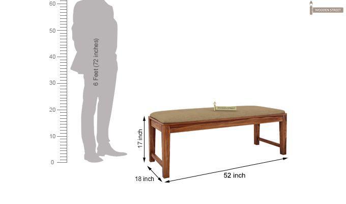 Terex 6 Seater Dining Set With Bench (Teak Finish)-11
