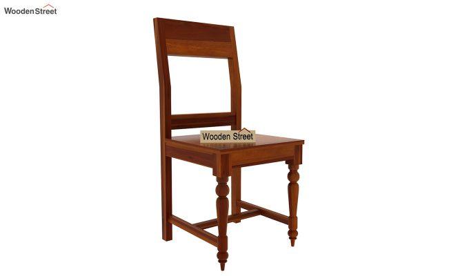 Boho 6 Seater Dining Set With Bench (Honey Finish)-9