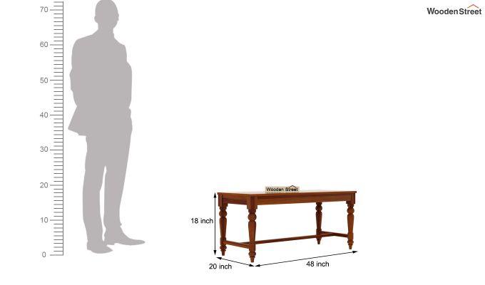 Boho 6 Seater Dining Set With Bench (Honey Finish)-14