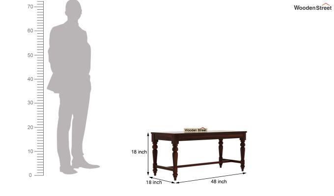 Boho 6 Seater Dining Set With Bench (Walnut Finish)-13