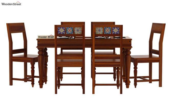 Boho 6 Seater Dining Set (Honey Finish)-3