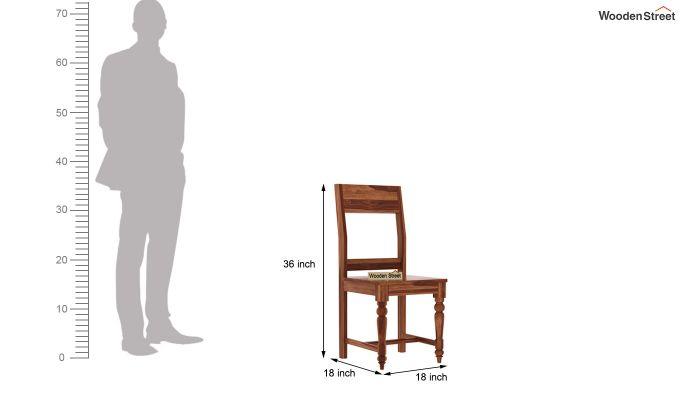 Boho 6 Seater Dining Set (Teak Finish)-9