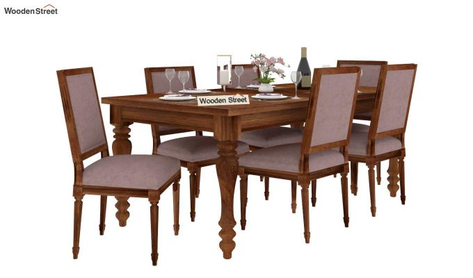 Bonita 6 Seater Dining Set (Natural Finish)-2