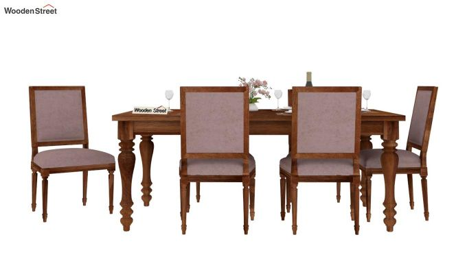 Bonita 6 Seater Dining Set (Natural Finish)-3