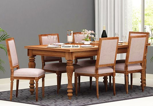 6 seater dining table set online