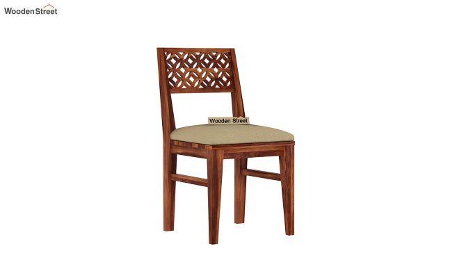 Cambrey 6 Seater Cushioned Dining Set (Honey Finish)-6