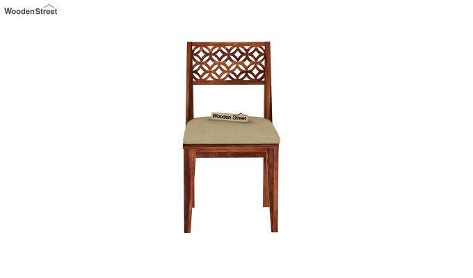 Cambrey 6 Seater Cushioned Dining Set (Honey Finish)-7