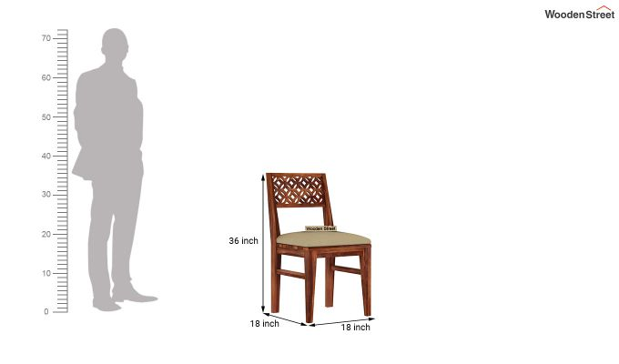 Cambrey 6 Seater Cushioned Dining Set (Honey Finish)-8