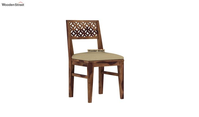Cambrey 6 Seater Cushioned Dining Set (Teak Finish)-6