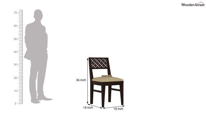 Cambrey 6 Seater Cushioned Dining Set (Walnut Finish)-9