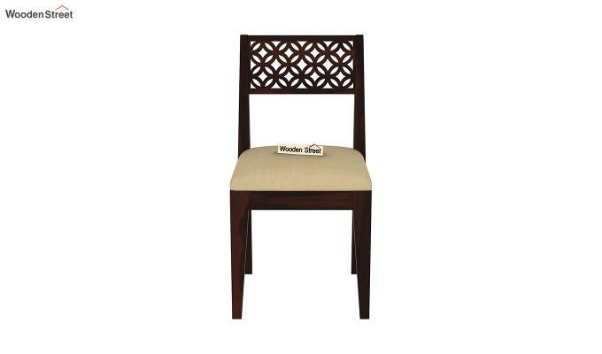Cambrey 6 Seater Cushioned Dining Set (Walnut Finish)-7