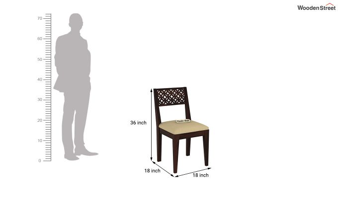 Buy Cambrey 6 Seater Cushioned Dining Set Walnut Finish