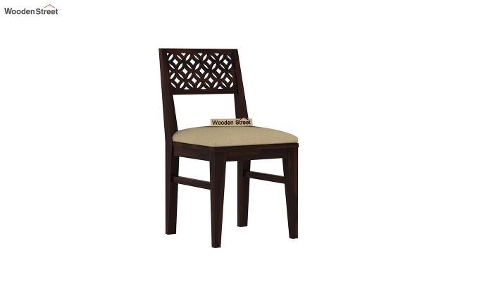 Cambrey 6 Seater Cushioned Dining Set With Bench (Walnut Finish)-6