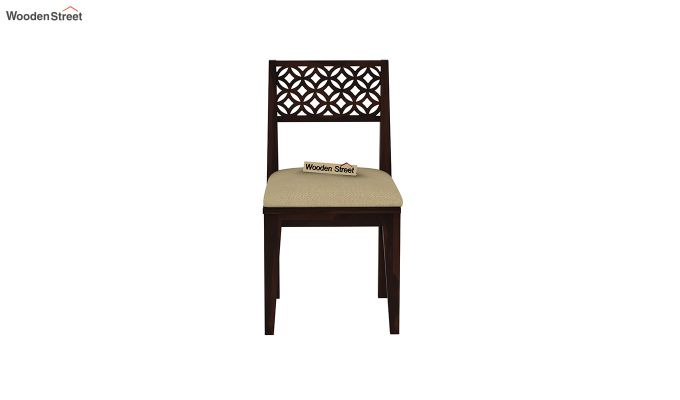 Cambrey 6 Seater Cushioned Dining Set With Bench (Walnut Finish)-7
