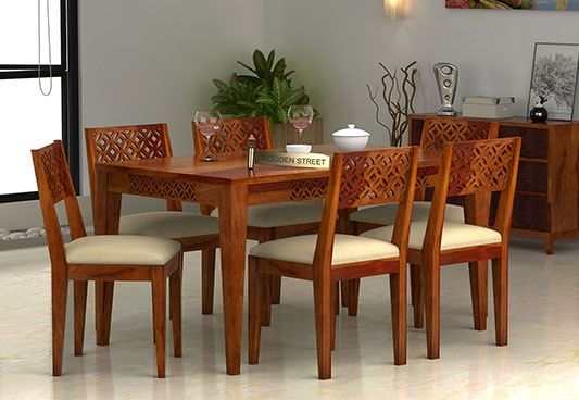 Wooden 6 Seater Dining Table For Sale Online India