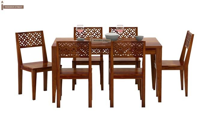 Cambrey 6 Seater Dining Set (Honey Finish)-3