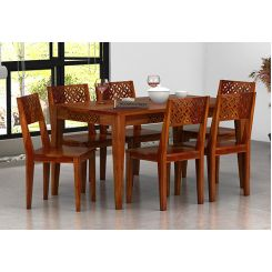 Cambrey 6 Seater Dining Set (Honey Finish)
