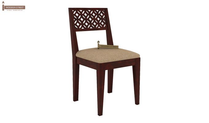 Cambrey 6 Seater Cushioned Dining Set (Mahogany Finish)-5