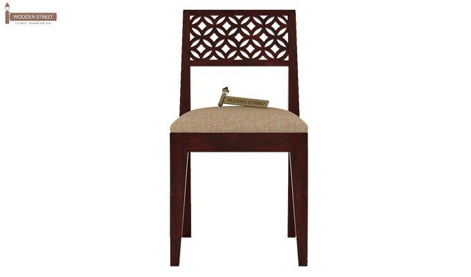 Cambrey 6 Seater Cushioned Dining Set (Mahogany Finish)-6