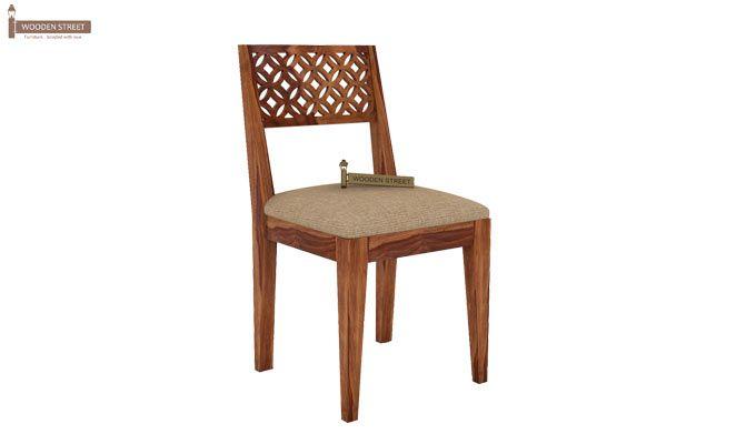 Cambrey 6 Seater Cushioned Dining Set (Teak Finish)-5