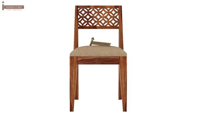 Cambrey 6 Seater Cushioned Dining Set With Bench (Teak Finish)-6