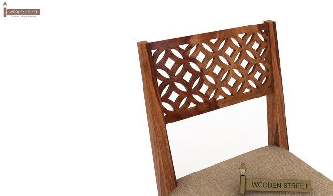 Cambrey 6 Seater Cushioned Dining Set (Teak Finish)-7