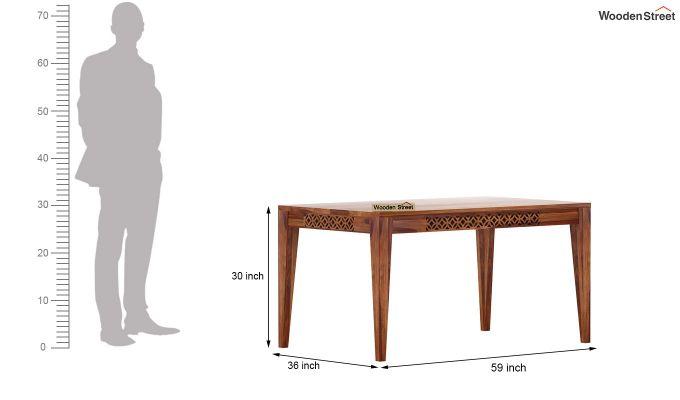Cambrey 6 Seater Cushioned Dining Set (Teak Finish)-9