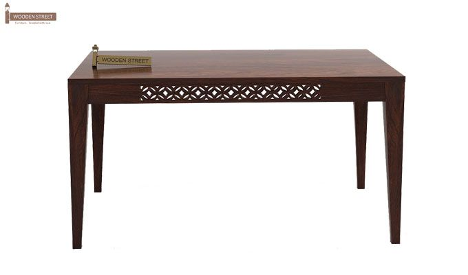 Cambrey 6 Seater Cushioned Dining Set (Walnut Finish)-4