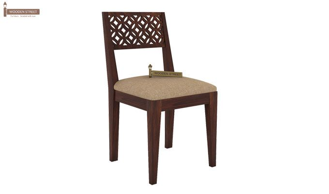 Cambrey 6 Seater Cushioned Dining Set (Walnut Finish)-5