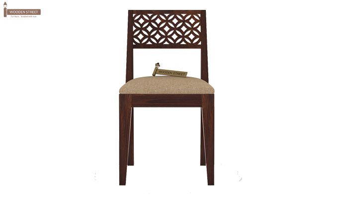 Cambrey 6 Seater Cushioned Dining Set (Walnut Finish)-6