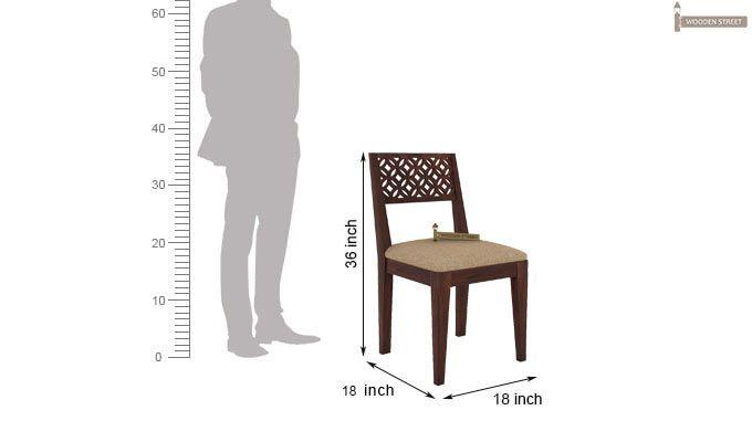 Cambrey 6 Seater Cushioned Dining Set (Walnut Finish)-8