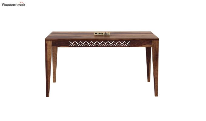 Cambrey 6 Seater Dining Set With Bench (Teak Finish)-5
