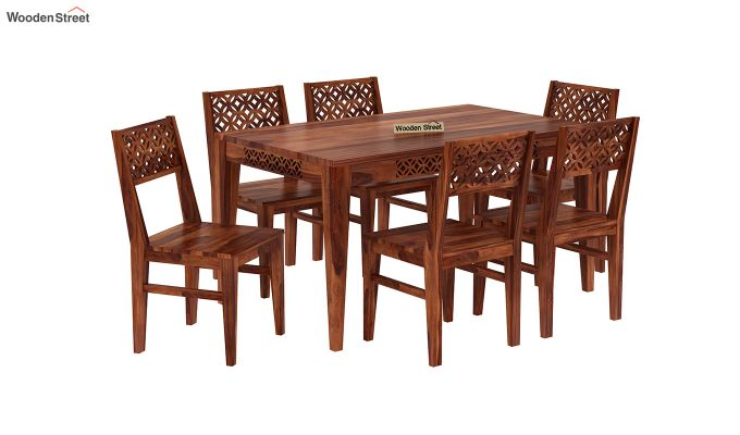 Cambrey 6 Seater Dining Set (Honey Finish)-2