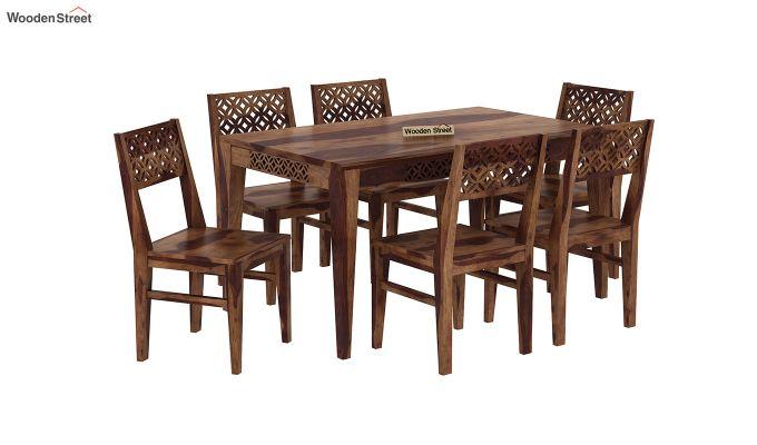 Cambrey 6 Seater Dining Set (Teak Finish)-2