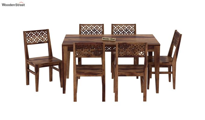 Cambrey 6 Seater Dining Set (Teak Finish)-3