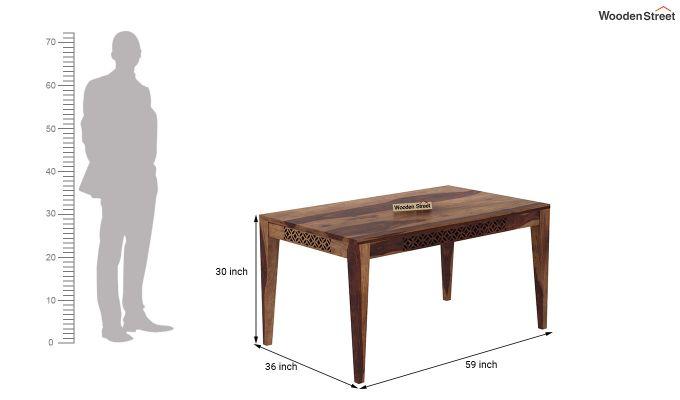 Cambrey 6 Seater Dining Set (Teak Finish)-8