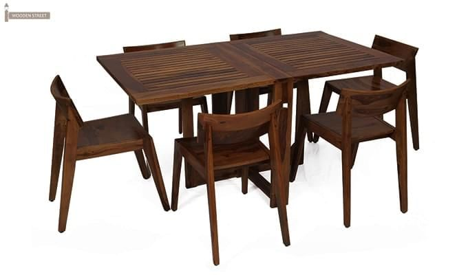 Buy Canova 6 Seater Family Dining Table Set Mahogany