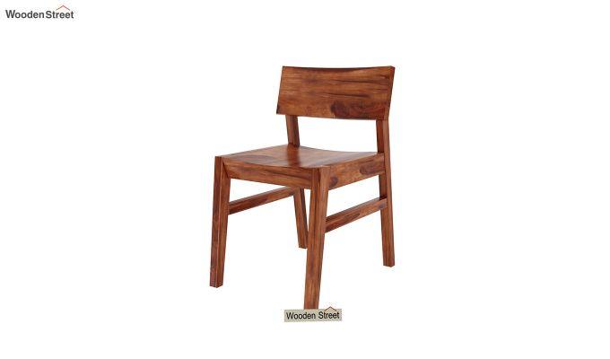 Canova 6 Seater Family Dining Table Set (Honey Finish)-9